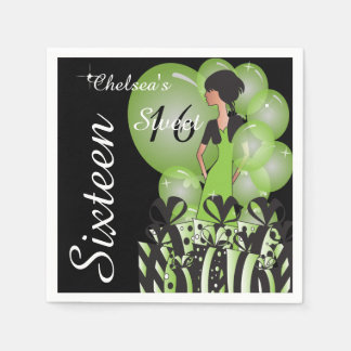 Customize Template for a Birthday or Bachelorette Napkin