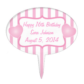 Customize Template for any Birthday Cake Topper