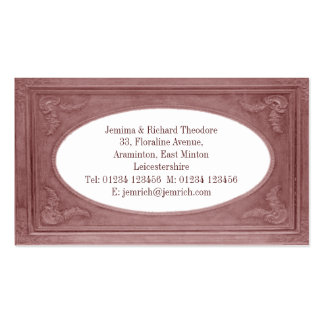 Customize Terracotta Pink Border Double-Sided Standard Business Cards (Pack Of 100)