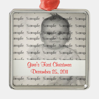 Customize Text ~ Baby's First Christmas Ornament