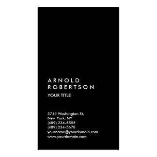 Customize Text Black Professional Business Card