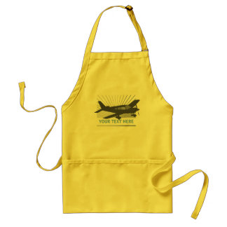 Customize Text - Low Wing Airplane Adult Apron
