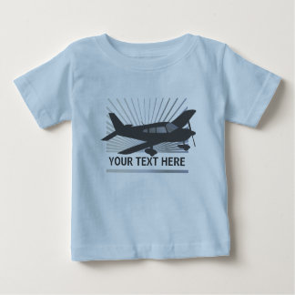 Customize Text - Low Wing Airplane Baby T-Shirt