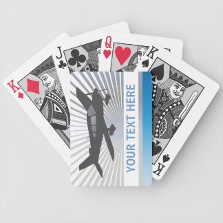Customize Text - Low Wing Airplane Bicycle Playing Cards