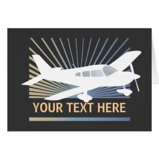 Customize Text - Low Wing Airplane Card
