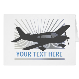 Customize Text - Low Wing Airplane Greeting Card