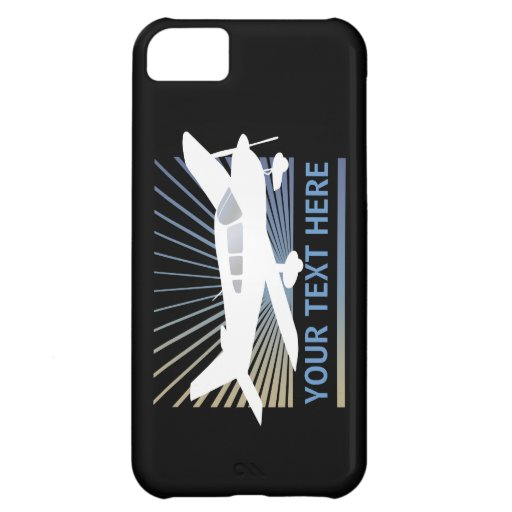 Customize Text - Low Wing Airplane iPhone 5C Covers
