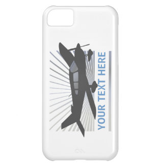 Customize Text - Low Wing Airplane Case For iPhone 5C