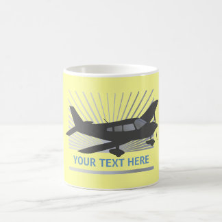 Customize Text - Low Wing Airplane Coffee Mug