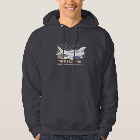 Customize Text - Low Wing Airplane Hoodie