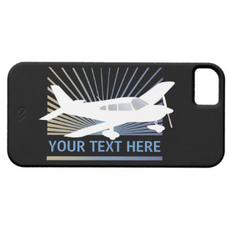 Customize Text - Low Wing Airplane iPhone SE/5/5s Case