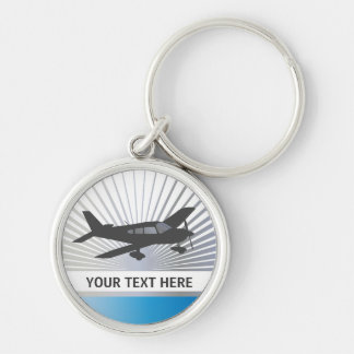 Customize Text - Low Wing Airplane Keychain