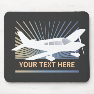 Customize Text - Low Wing Airplane Mouse Pad