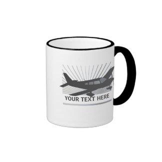 Customize Text - Low Wing Airplane Ringer Mug