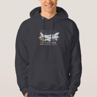 Customize Text - Low Wing Airplane Sweatshirt