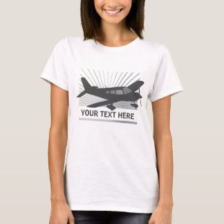 Customize Text - Low Wing Airplane T-Shirt