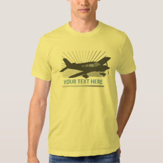 Customize Text - Low Wing Airplane T Shirt
