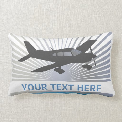 Customize Text - Low Wing Airplane Throw Pillow