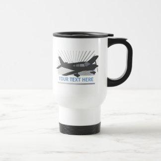 Customize Text - Low Wing Airplane Travel Mug