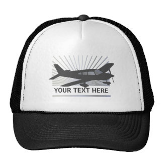 Customize Text - Low Wing Airplane Trucker Hat