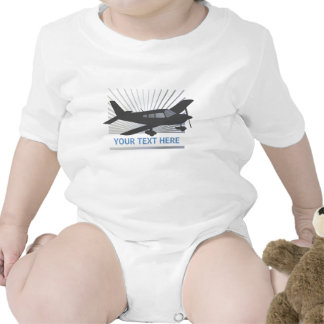 Customize Text - Low Wing Airplane Baby Bodysuits