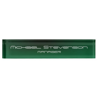 Customize Text Professional Modern Desk Nameplate