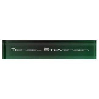 Customize Text Professional Modern Green Nameplate