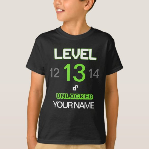 Customize The Age And Name Gamer Birthday T_Shirt