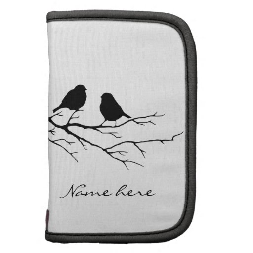 Customize the Color Two Birds in Tree Nature Organizers