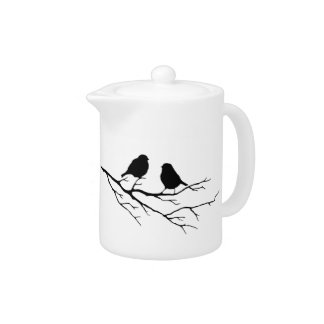 Customize the Color Two Birds in Tree Nature Teapot