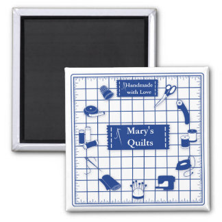 Customize the Label Quilt Time Magnet