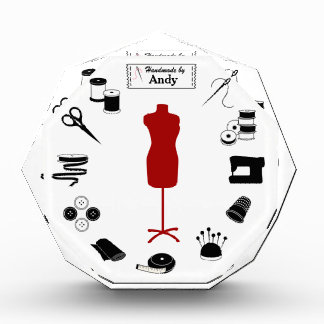 Customize the Label Sew Right Acrylic Award