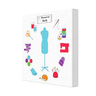 Customize the Label Sew Right Canvas Print