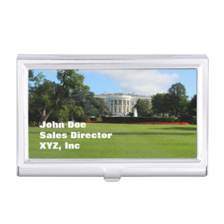 Customize The White House Photo Business Card Holder