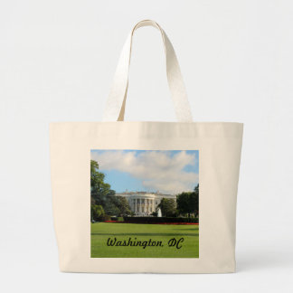 Customize The White House Photo Large Tote Bag