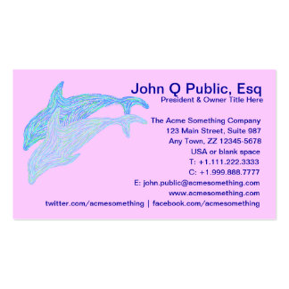 Customize These Dancing Dolphins Business Cards