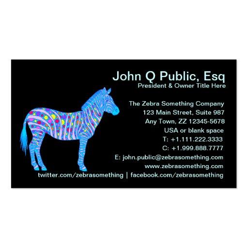 Customize These Fun Zebra Business Cards