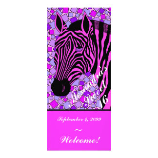 Customize These Pink Zebra Sweet 16 Party Menus Custom Rack Card