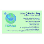 Customize These Terra Planet Earth Business Cards