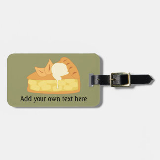 Customize this Apple Pie Slice graphic Bag Tag