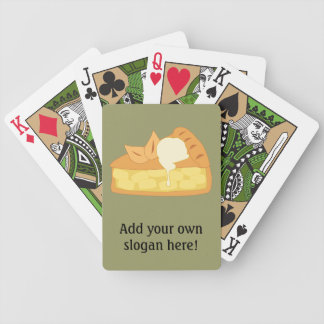 Customize this Apple Pie Slice graphic Bicycle Playing Cards