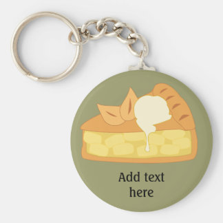 Customize this Apple Pie Slice graphic Keychain
