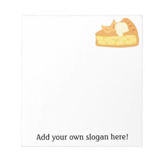 Customize this Apple Pie Slice graphic Note Pad