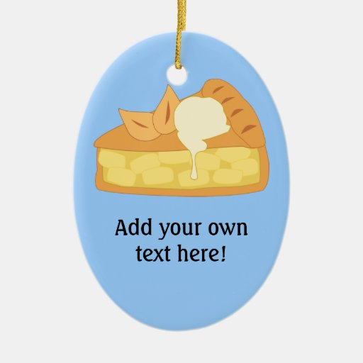 Customize this Apple Pie Slice graphic Ornament