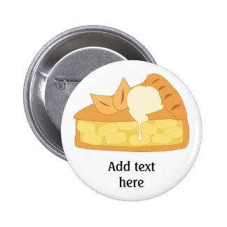 Customize this Apple Pie Slice graphic Pinback Button