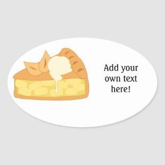 Customize this Apple Pie Slice graphic Oval Sticker