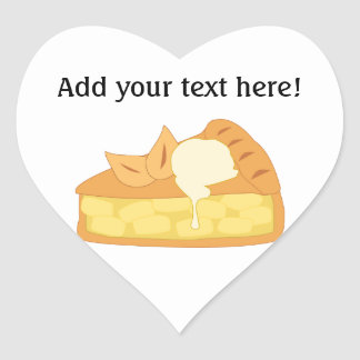 Customize this Apple Pie Slice graphic Heart Sticker