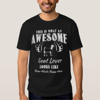 CUSTOMIZE THIS Awesome Goat Lover Boer Goat T-Shirt