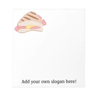 Customize this Bacon Sandwich graphic Notepad