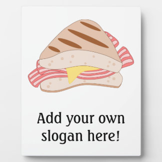 Customize this Bacon Sandwich graphic Plaque